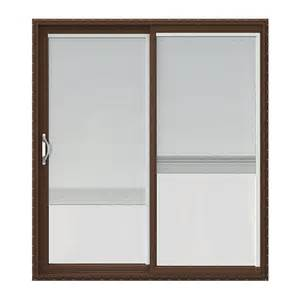 jeld wen 72 in x 80 in v 2500 series vinyl sliding patio door with blinds jw1815 00168 the