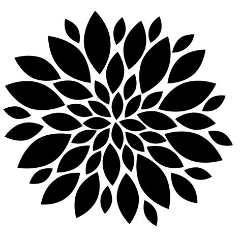 flowers clipart black and white flowers black and white clip flowers black free