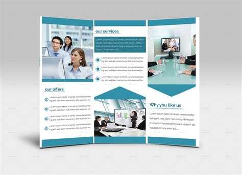 brochure layout inside simple trifold brochure design by zihaddream graphicriver