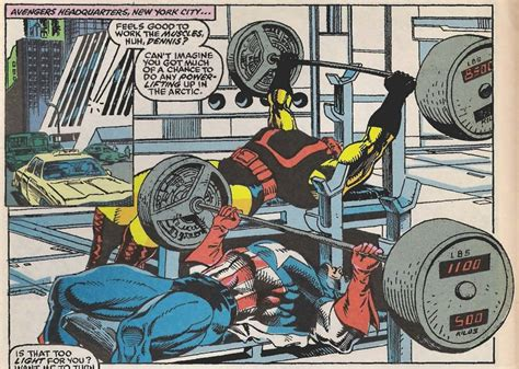 dennis rogers bench press marvel comics is captain america human science