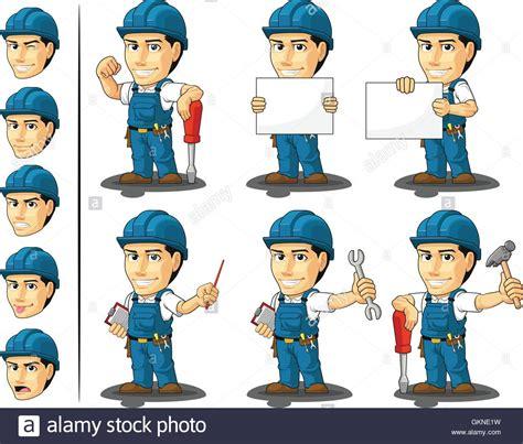Mascot Plumbing by Mechanic Vector Plumber Mascot Technician Workers