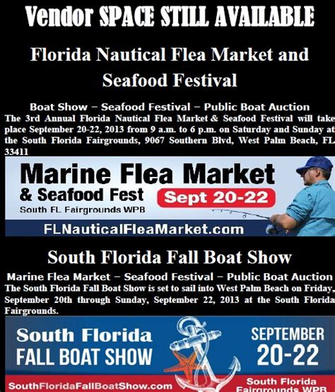 west palm beach boat show vendors florida marine and nautical flea markets september 2013