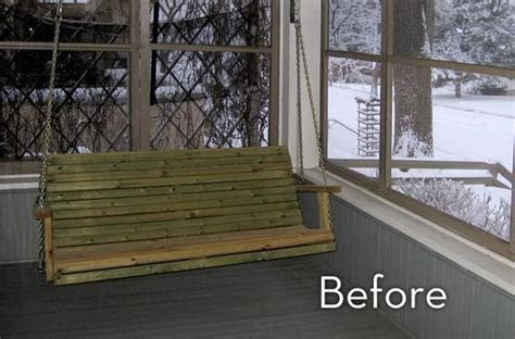 screened porch makeover rough concrete floor our simple front porch makeover 187 curbly diy design decor
