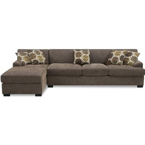poundex 2 pieces faux leather sectional right chaise poundex benford faux linen chaise sofa slate sectional ebay