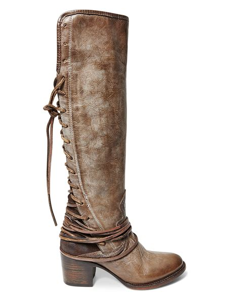 free bird boots freebird by steven boots coal lace up in gray lyst