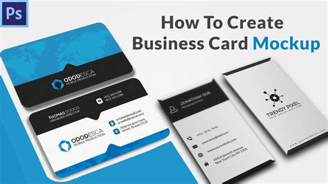 How To Create A Business Card Mockup In Photoshop how to create a business card mockup in photoshop using