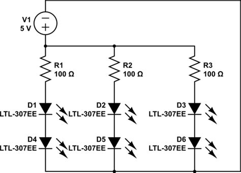 resistor for led in parallel why many resistor led s connecting in parallel current of each led is not stable