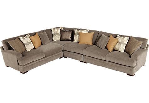 Cindy Crawford Fontaine 4 Pc Microfiber Sectional Sofa