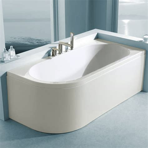 1600 P Shaped Shower Bath carron status offset corner right hand bath 1700 x 725mm
