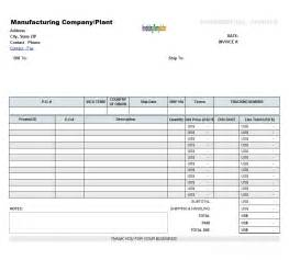 blank invoice template excel fillable commercial invoice template design