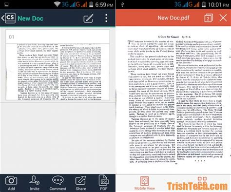 camscanner android camscanner scan documents with the android smartphone