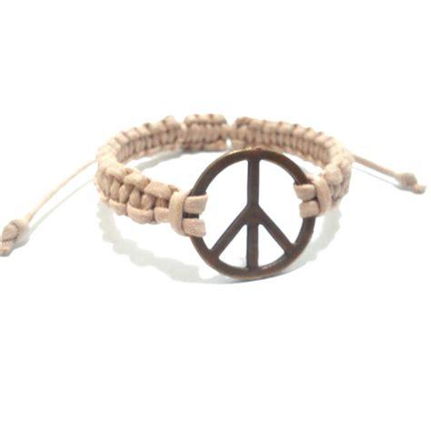 macrame pulseira pulseira de macram 234 s 237 mbolo paz marfim pulseiras