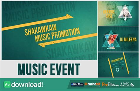 Videohive Music Event Promo Free Download Free After Effects Template Videohive Projects Event Promo Template Free