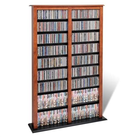 dvd storage tower prepac width barrister cd dvd media storage tower cherry black