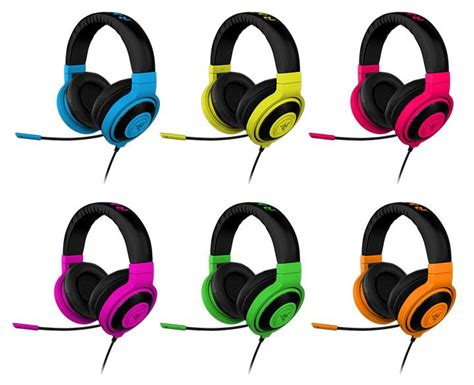 Headset Razer Neon Series got the one razer kraken pro neon headsets stuff