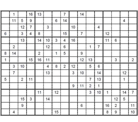 hard sudoku 16 x 16 puzzle 4. hard sudoku 16 x 16 to print