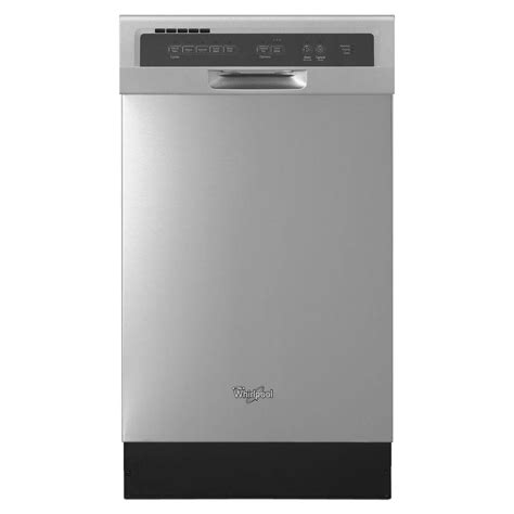 dishwasher home whirlpool 18 in front control built in compact tall tub