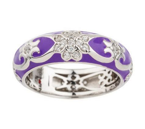 hidalgo diamonique sterling enamel flower band