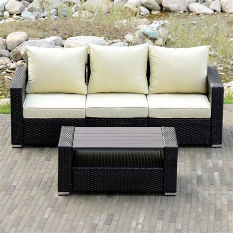 Sofa Outdoor Furniture by Sectional Outdoor Patio Wicker Rattan Sofa Sets Pe Deck
