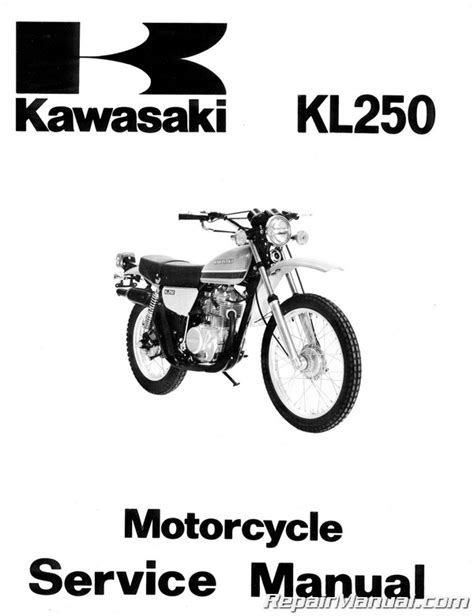 Kawasaki Motorcycle Service by 1978 1979 Kawasaki Kl250 Motorcycle Service Manual