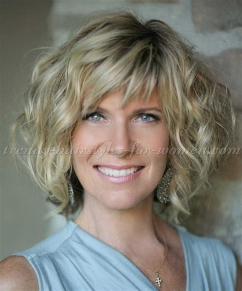 hairstyles that suit 50yr old women short hairstyles over 50 wavy bob hairstyle trendy