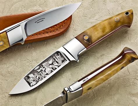 engraved kitchen knives picasso s guernica engraved knife