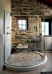 Rustic bathroom shower
