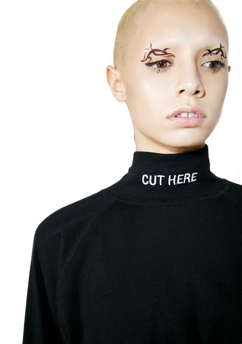 Mock Haircut | vetememes cut here mock turtleneck dolls kill