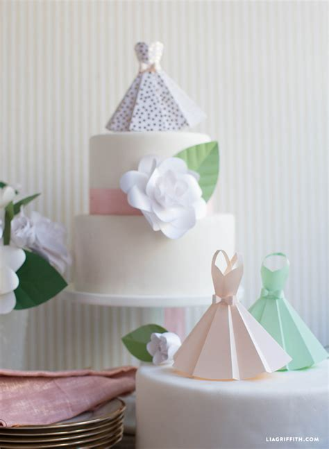 Paper Craft Ideas For Weddings - paper dress diy wedding decorations lia griffith