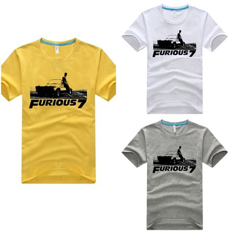 fast and furious merchandise 2015 the fast and furious 7 t shirts movie paul walker