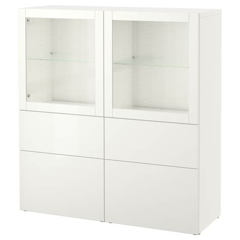 besta 50 cm best 197 storage combination w glass doors lappviken sindvik