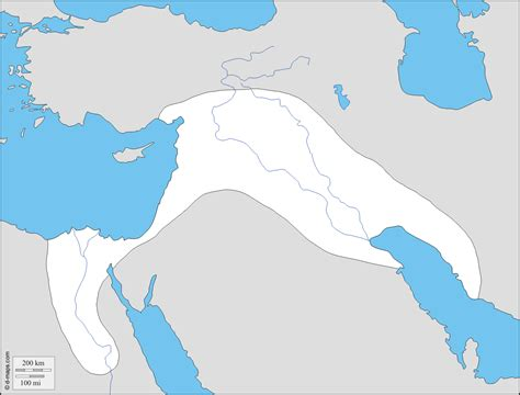 fertile crescent map blank map fertile crescent