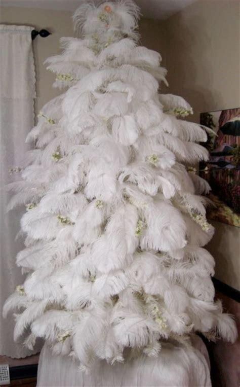 fluffy feather christmas tree decoration angel wings ostrich feather tree this tree is covered in fluffy white ostrich feathers the