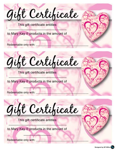 Quick Trip Gift Cards - valentines day gift certificate for your mary kay customers qt mary kay gift card km