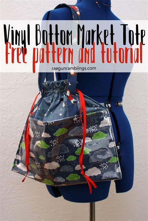 vinyl handbag pattern vinyl bottom market bag tutorial rae gun ramblings