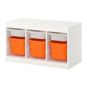 trofast storage combination with boxes white orange ikea