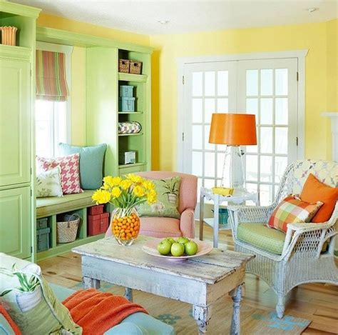 chic and colorful living room ideas