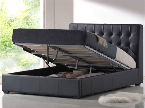 black storage bed contemporary black leather king platform bed with storage