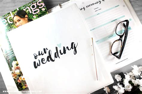 Wedding Planner Binder by Free Printables New Wedding Planning Binder