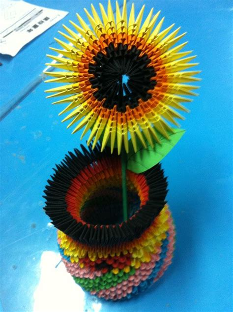 3d Origami Sunflower - 216 best images about origami 3d origami on