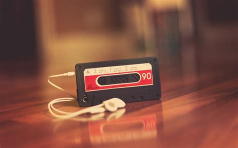 cassette player headphones  mood photo wallpaper