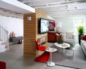 Low Ceiling Basement Remodeling Ideas Loft Like Basement Renovation Contemporary Basement Dc Metro By Wentworth Inc