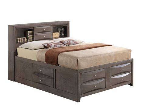 gray storage bed glory furniture queen storage bed in gray g1505g qsb3