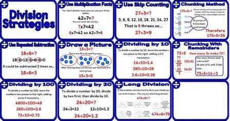 printable division poster free printable division strategies posters gives some of