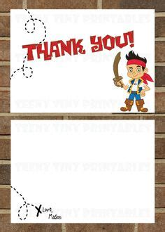 free printable pirate thank you card template jake and the neverland with title box project
