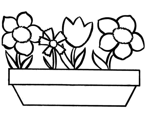 Coloring In Pictures Printable Flowers To Color Simple Flower Coloring Page by Coloring In Pictures