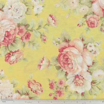 shabby floral fabric by the shabby chic pink yellow floral fabric by the yard half