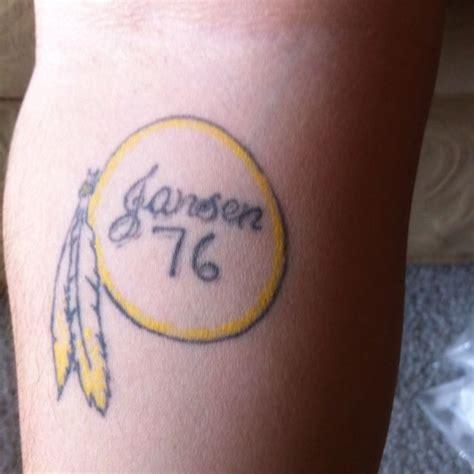 redskins tattoo redskins bad nfl inked bad nfl tattoos
