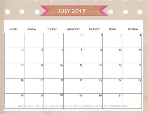printable free july 2015 calendar 8 lovely july 2015 calendars