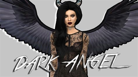 wings sims4 cc the sims 4 dark angel create a sim youtube